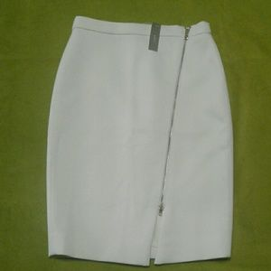NWT  J. Crew Ivory Pencil Skirt